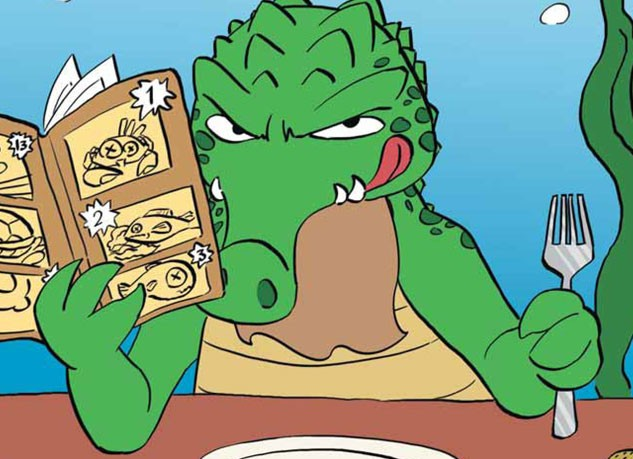 Hungry Mr. Croc by Loulou Szal