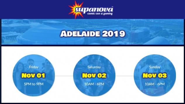 Supanova Adelaide 1 - 3 November 2019