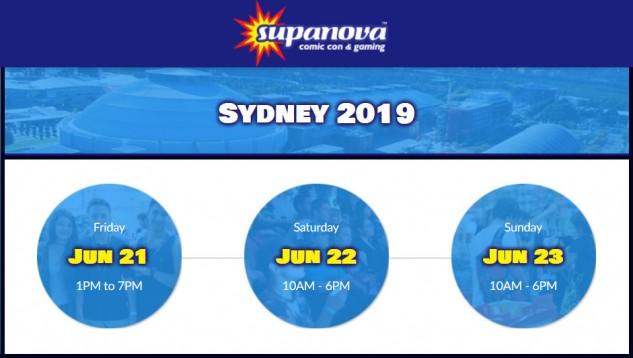 Supanova Sydney 21 - 23 June 2019