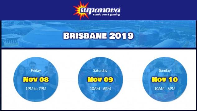 Supanova Brisbane 8-10 November 2019